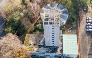 Safe visual property inspections at height by drone