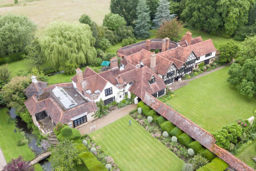 Grade 2 listed historic building from the air