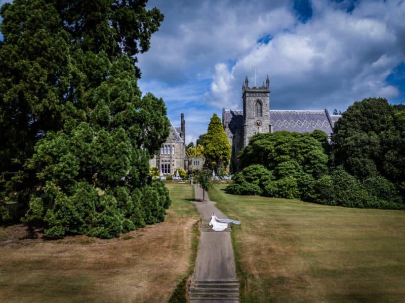 Ashdown Hotel wedding coverage by Drone