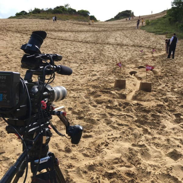 Sand Marble Rally Filming BBC One Show