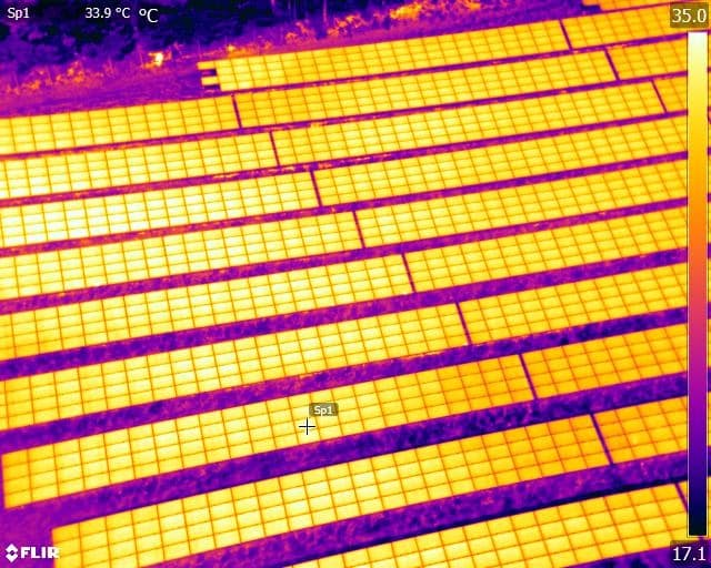 Solar Farm Thermal Imaging Sussex Surrey Kent