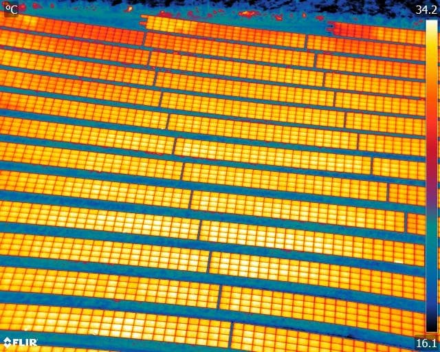 Drone Thermal Imaging Inspection of Solar Farms in the UK