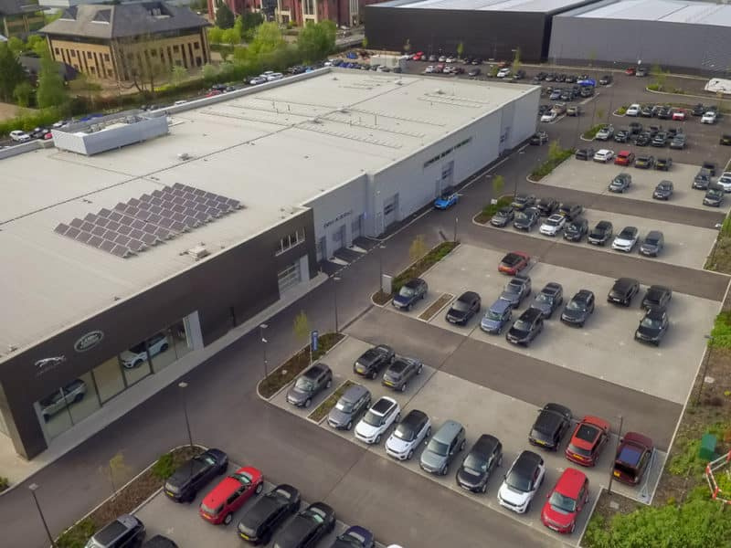 Aerial Photography at Jaguar Car Dealership