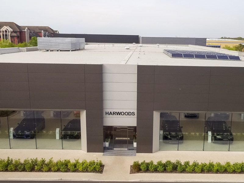Aerial Photography at Jaguar Car Dealership