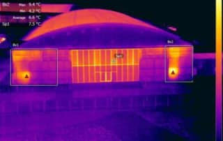 Insulation performance inspection using thermal camera