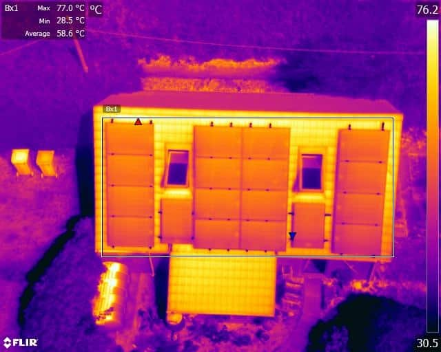 Drone solar panel inspection
