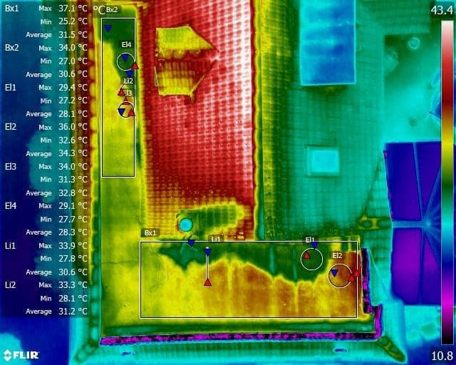 water ingress thermal image