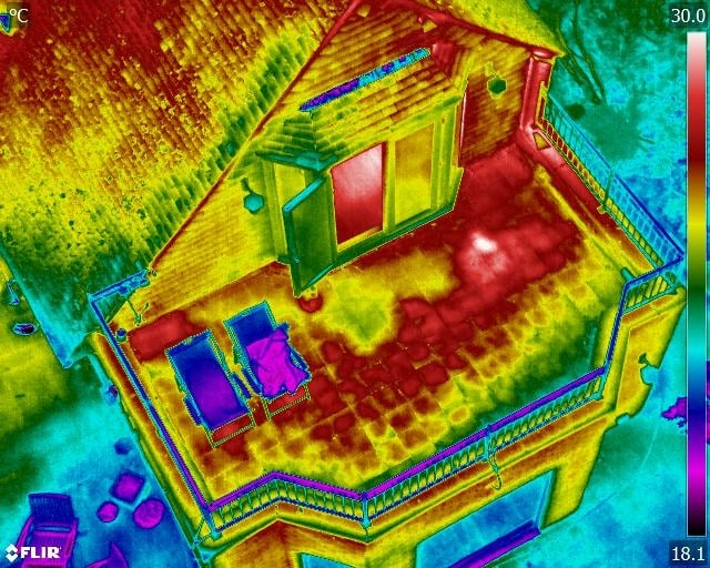 Thermal Image for Roof Heat loss Detection