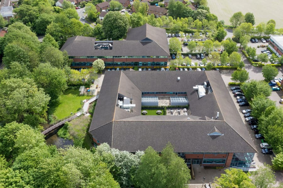 Commercial aerial property photography