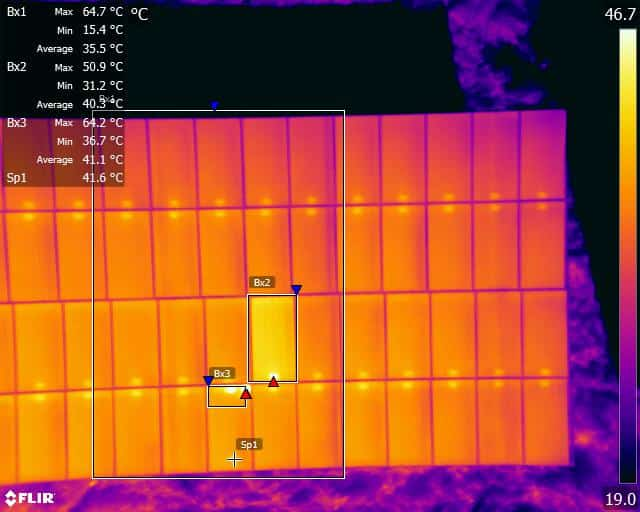 commercial thermal solar farm inspection
