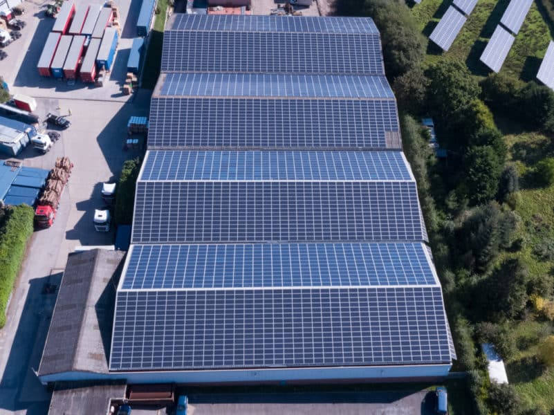 OSC building and roof drone solar panel PV inspection
