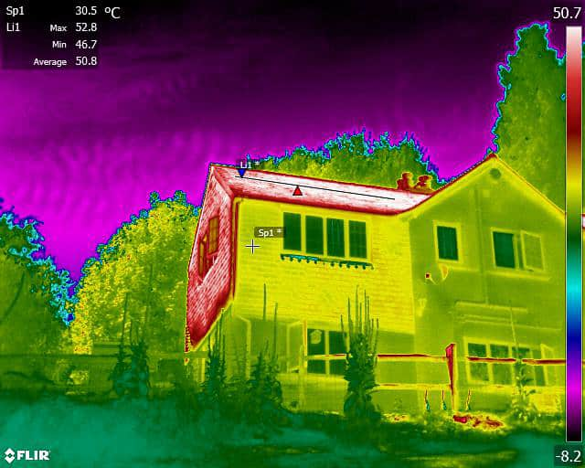 Domestic house thermal survey