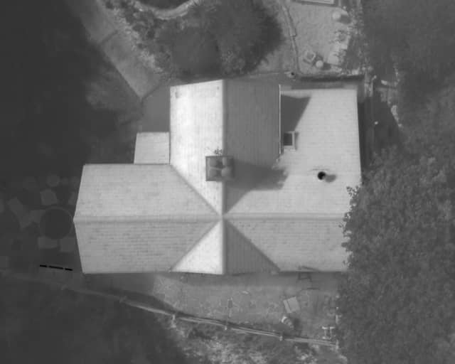 Thermal source for roof inspection