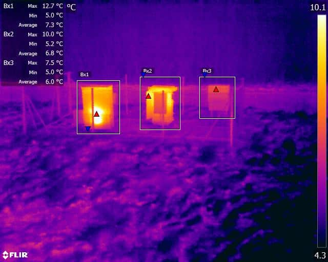 Electrical Generator Thermal Infrared Image