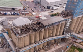 Port of Tilbury London Grain Store Dust Explosion and Fire